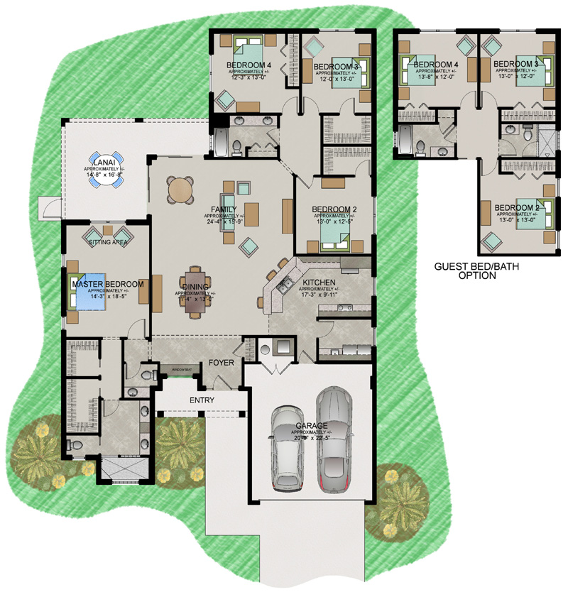Grand cayman floor plan new home construction oxford fl for Grand design floor plans